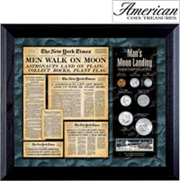 New York Times Man Lands on the Moon Coin Stamp Collection