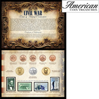 Civil War Coin Stamp Collection