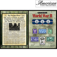 The New York Times World War II Coin Stamp Collection
