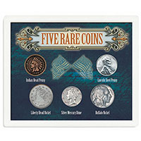 American Treasures 5 Rare Coins