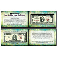 American Coin Treasures Red Seal Note Currency Collection