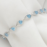 Blue 6mm Gemstone Bracelet