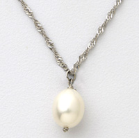 Sterling Silver Tear Drop Necklace