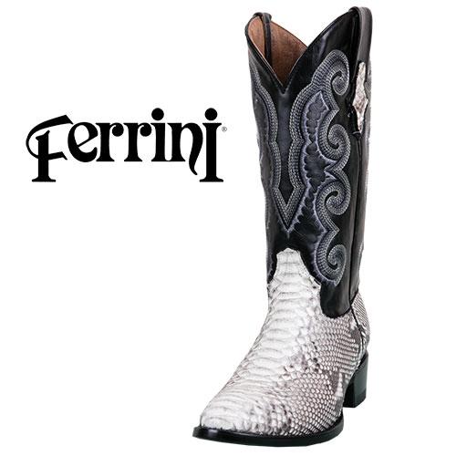 Ferrini Python R-Toe Boots