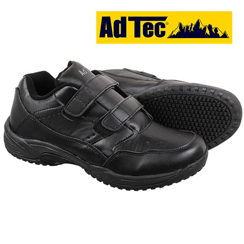 AdTec Black Slip-Resistant Shoes