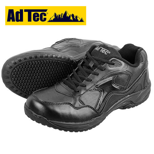 AdTec Black Lace Slip-Resistant Shoes