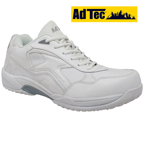 AdTec White Lace Slip-Resistant Shoes