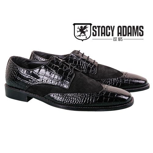Stacy Adams Men's Black Arturo Oxfords