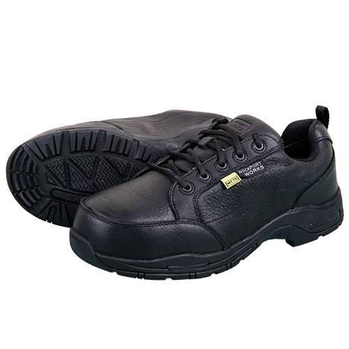 Rockport Men's Black Leather Work Shoes