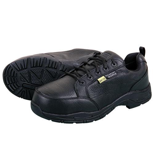 Rockport Men's Black Leather Work Shoes