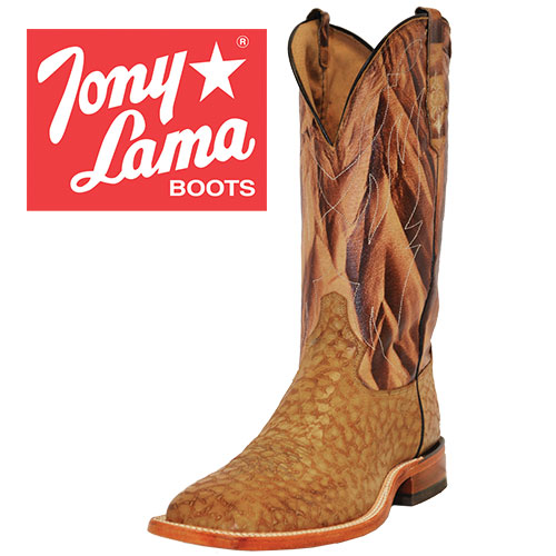 Tony Lama Men's Tan Quill Print Boots