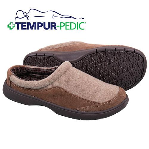 Tempur-Pedic Men's Tan Slippers