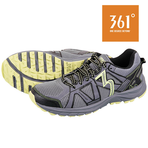 361 Degrees Men's Castlerock Green Trail Shoes