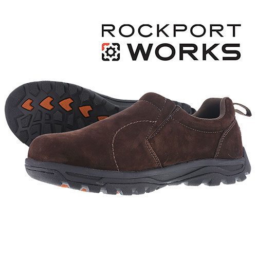Rockport Men's Brown Slip-On Work Shoes
