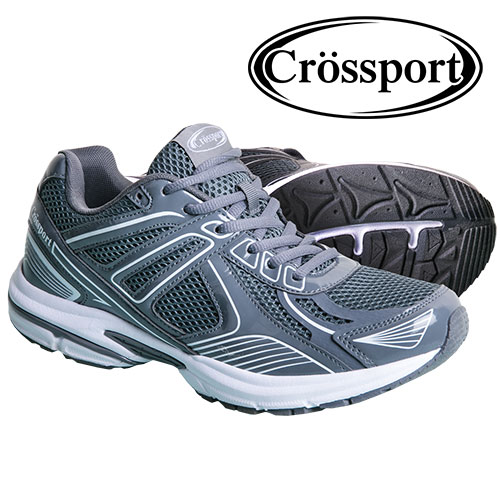 Crossport Men's Grey Athletic Shoes