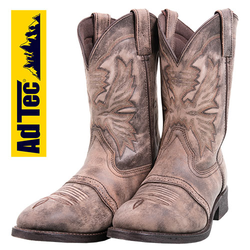 Adtec Men's Stonewashed Western Boots