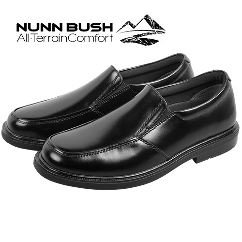 Nunn Bush Men's Black Tucker Slip-On Shoes