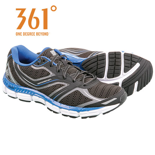 361 Degrees Men's Black Violation Running Shoes