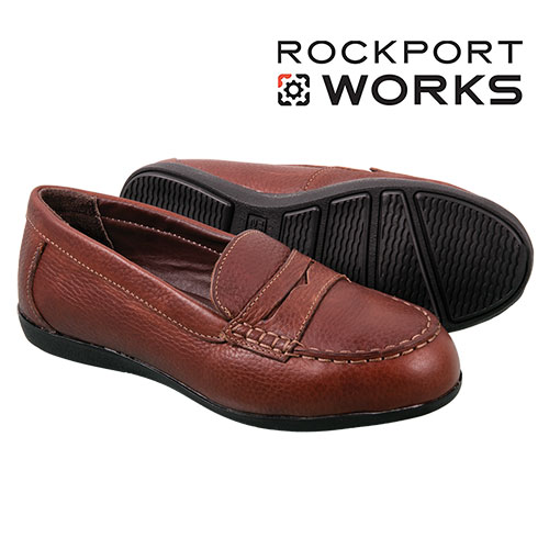 Rockport Works Women's Brown Penny Loafers