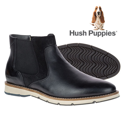 Hush Puppies Men's Black Burwell Hays Boots