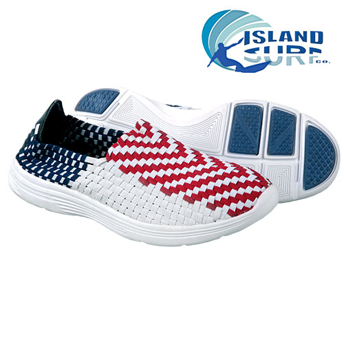 Island Surf Men's Red, White & Blue South Beach Slip On Shoes
