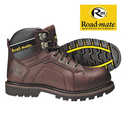 Roadmate Men's Brown Gravel Work Boots