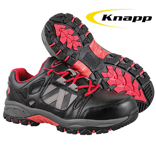 Knapp Men's Black Athletic Work Shoes