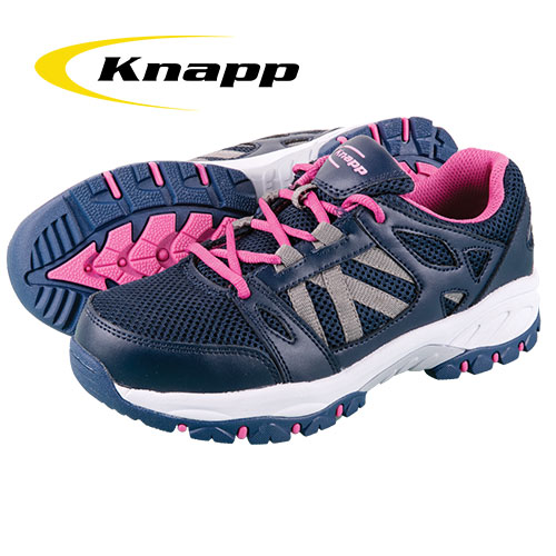 Knapp Women's Navy & Pink Athletic Work Shoes