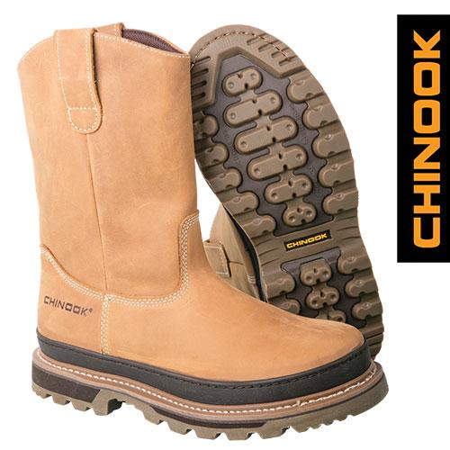Chinook Rancher Men's Tan Wellington Boots