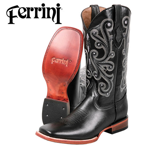 Ferrini Men's Black Calf Boots