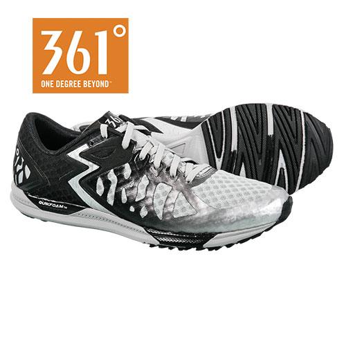 361 Degree Men's Black Chaser Running Shoes