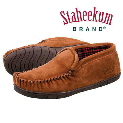 Staheekum Men's Suede Wheat Trapper Slippers