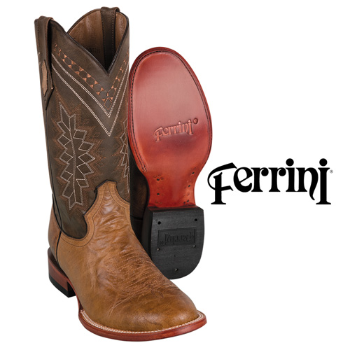 Ferrini Men's Antique Saddle Kangaroo Boots