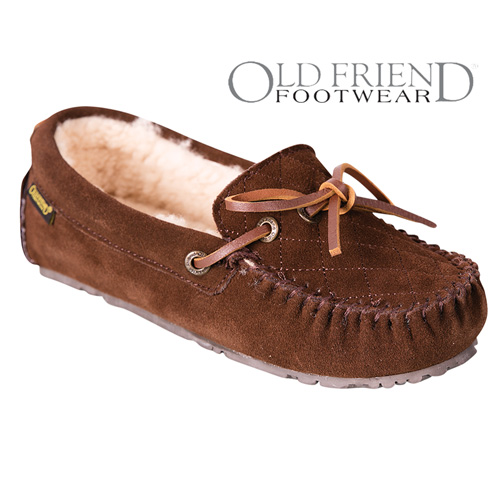 Old Friend Footwear Women's Chocolate Mo Slippers