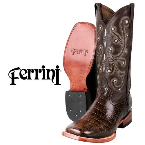 Ferrini Men's Belly Alligator Print Boots