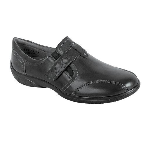 Walking Cradle Women's Black Slip On Shoes