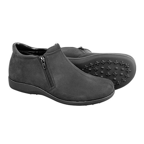Walking Cradles Women's Black Zip Boots