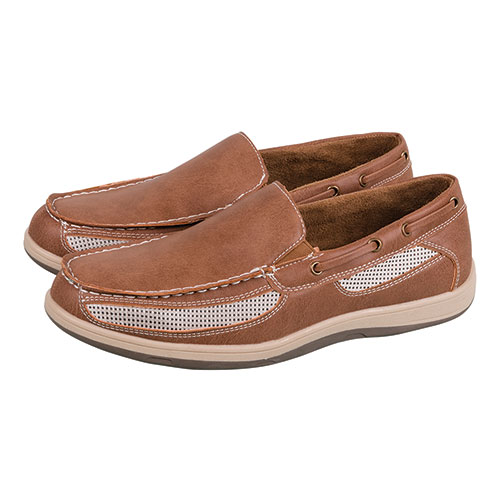 Island Surf Men's Tan Chatham Slip-On Shoes