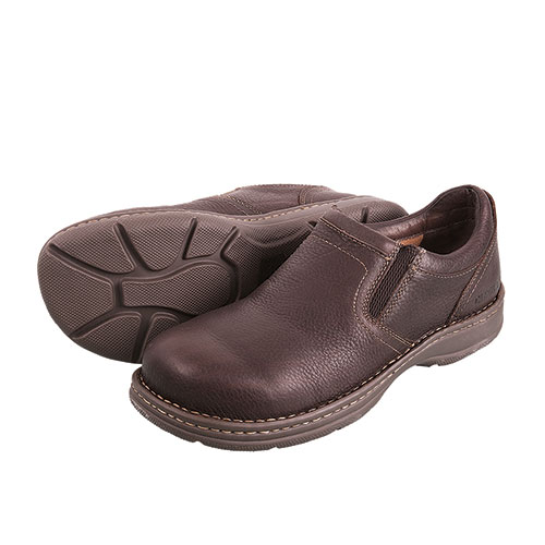 Carolina Opanka Men's Brown Aluminum Toe Slip-Ons
