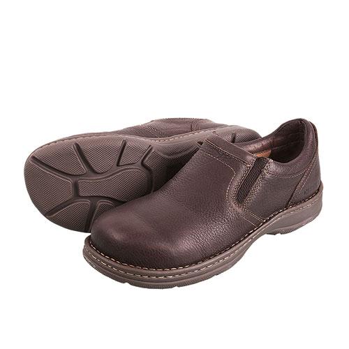 Carolina Opanka Men's Brown Aluminum Toe Slip-Ons