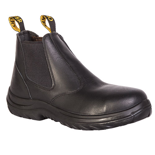 Oliver Men's Black Chelsea Pull-On Boots
