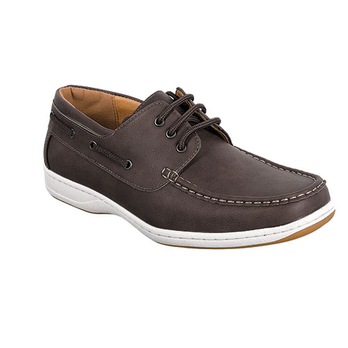 Abbot K Men's Dark Brown Boat Shoes