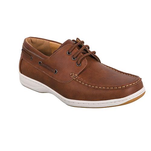 Abbot K Men's Light Brown Boat Shoes