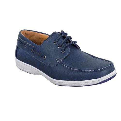 Abbot K Men's Navy Boat Shoes
