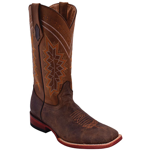 Men's Ferrini S-Toe Kangaroo Boot - Chocolate