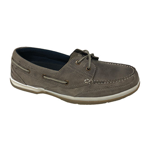 Island Surf Men's Classic Boat Shoes - Grey