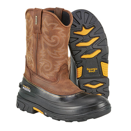 Georgia Muddog Men's Brown Western Wellington Boots