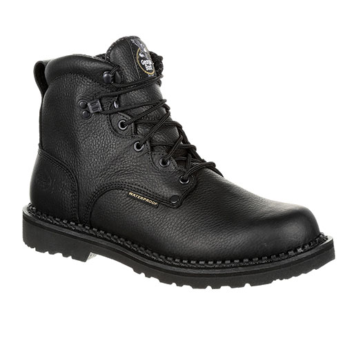 "Georgia Men's Black 6"" Waterproof Work Boots"