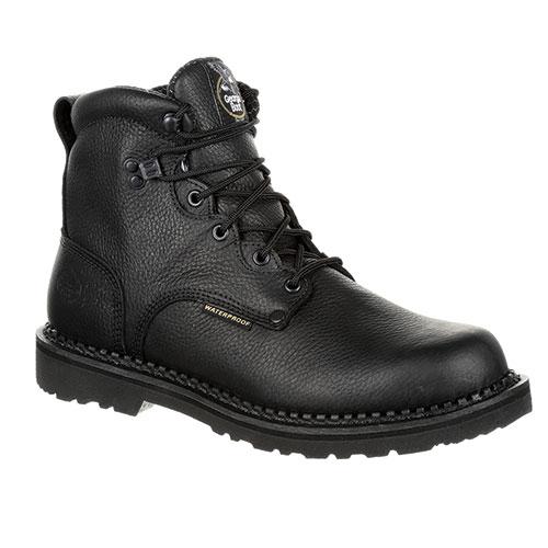"Georgia Men's Black 6"" Waterproof Work Boots"