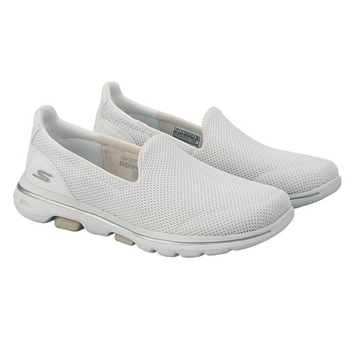 Skechers Women's GOwalk 5 Grey Slip-Ons